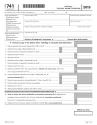 "Form 741 ""Kentucky Fiduciary Income Tax Return"" - Kentucky, 2019"