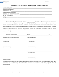 """Form DOTD03-40-0671 """"Certificate of Final Inspection and Payment"""" - Louisiana"""