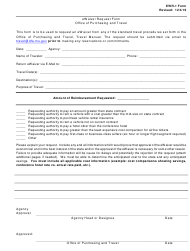 "Form EWR-1 ""eWaiver Request Form"" - Mississippi"