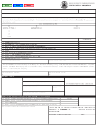 "Form MO375-0420 ""Certificate of Valuation"" - Missouri"