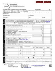 "Form MO-1065 ""Partnership Return of Income"" - Missouri, 2019"