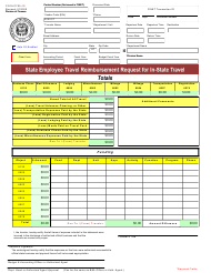 """Form FI51A """"State Employee Travel Reimbursement Request for in-State Travel"""" - Utah"""