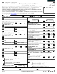 "Form T2 ""Corporation Income Tax Return"" - Canada"