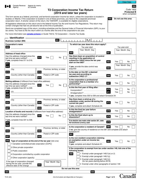 Form T2 Printable Pdf