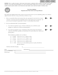 "Form 11000 ""Supplement Plea Form for Drug Offenses"" - New Jersey"
