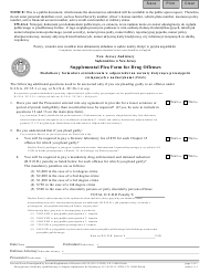 "Form 11000 ""Supplement Plea Form for Drug Offenses"" - New Jersey (English/Polish)"