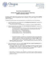 """""""Nitrous Oxide Permit Application Form"""" - Oregon"""
