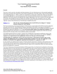 """Form OP-UA56 (TCEQ-10294) """"Vinyl Chloride Process Attributes"""" - Texas"""