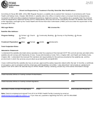 "Form 3214 ""Chemical Dependency Treatment Facility Satellite Site Notification"" - Texas"