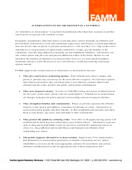 """""""Alternatives to Incarceration in a Nutshell - Families Against Mandatory Minimums"""""""
