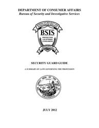 """Security Guard Guide"" - California"