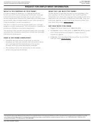 """Form CMS L564 """"Request for Employment Information"""""""