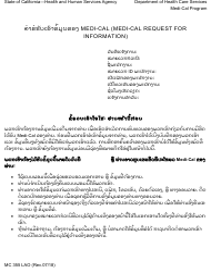 "Form MC355 ""Medi-Cal Request for Information"" - California (Lao)"