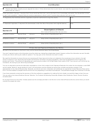 "IRS Form 3911 ""Taxpayer Statement Regarding Refund"", Page 2"