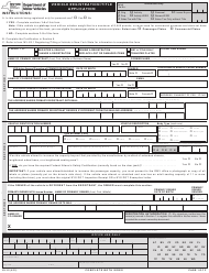"Form MV-82 ""Vehicle Registration/Title Application"" - New York"