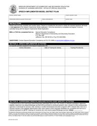 "Form MO500-3230 ""Speech Implementer Model District Plan"" - Missouri"