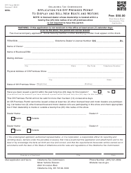 """OTC Form BM-22 """"Application for off-Premises Permit to Display and Sell New Boats and Motors"""" - Oklahoma"""