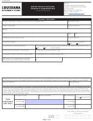 "Form R-1386 ""Motor Vehicle Dealers Vendor's Compensation Claim for Refund"" - Louisiana"