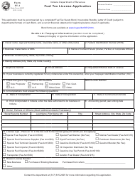 "Form FT-1 (State Form 46297) ""Fuel Tax License Application"" - Indiana"