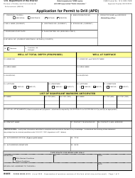 """Form BSEE-0123 """"Application for Permit to Drill (Apd)"""""""