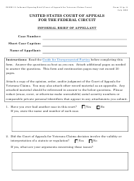 """Form 13 """"Informal Brief (Court of Appeals for Veterans Claims Cases)"""""""