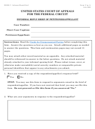 """Form 17 """"Informal Reply Brief of Petitioner/Appelant"""""""