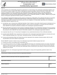 """Form NIH3001 """"Cooperation and Confidentiality Agreement"""""""