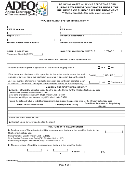 Form DWAR15 A & B  Printable Pdf