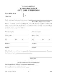 """Joint Oath of Directors"" - Arkansas"