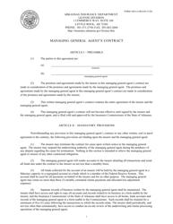 "Form AID-LI-MGA45 ""Managing General Agent's Contract"" - Arkansas"