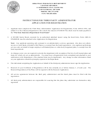 "Form AID-LI-TPA ""Third Party Administrator Application for Registration"" - Arkansas"