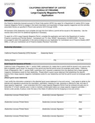 "Form BOF050 ""Large-Capacity Magazine Permit Application"" - California"