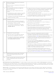 """Form SI-550 """"Statement of Information (California Stock, Agricultural Cooperative and Foreign Corporations)"""" - California, Page 3"""