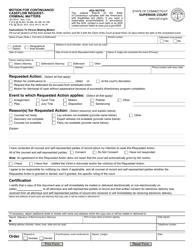 "Form JD-CR-51 ""Motion for Continuance/ Caseflow Request - Criminal Matters"" - Connecticut"