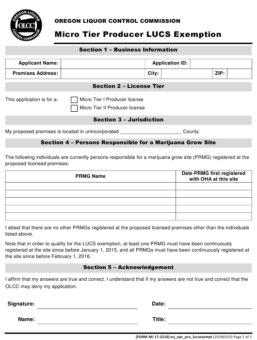 Form MJ17-2210  Printable Pdf