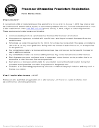 "Form MJ18-3205 ""Supplemental Form: Processor Alternating Proprietors Registration"" - Oregon"