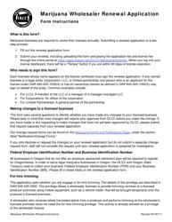 "Form MJ17-4025 ""Marijuana Wholesaler Renewal Application"" - Oregon"