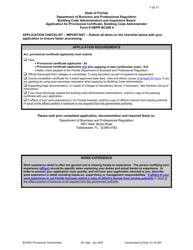 "Form DBPR BCAIB4 ""Application for Provisional Certificate - Building Code Administrator"" - Florida"