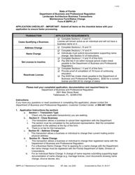 "Form DBPR LA7 ""Maintenance Form/Status Change"" - Florida"
