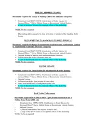 "Form HSMV86072 ""Modification to Dealer License for Licensed Motor Vehicle, Mobile Home, or Recreational Vehicle Dealers"" - Florida, Page 10"