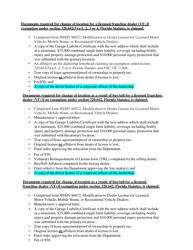 "Form HSMV86072 ""Modification to Dealer License for Licensed Motor Vehicle, Mobile Home, or Recreational Vehicle Dealers"" - Florida, Page 7"