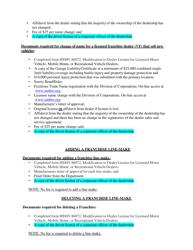 "Form HSMV86072 ""Modification to Dealer License for Licensed Motor Vehicle, Mobile Home, or Recreational Vehicle Dealers"" - Florida, Page 9"