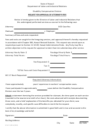 """Form DC-AF1 """"Request for Approval of Attorney's Fees"""" - Hawaii"""