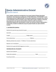 """""""Queja Administrativa Estatal"""" - Idaho (Spanish)"""