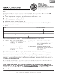 "Form DAH H12 ""Formal Hearing Request Form"" - Illinois"