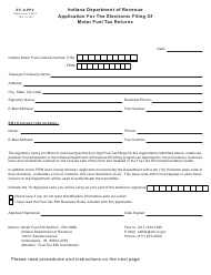 "Form EF-APP2 (State Form 51622) ""Application for the Electronic Filing of Motor Fuel Tax Returns"" - Indiana"