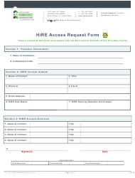 "Form B ""Hire Access Request Form"" - Louisiana"