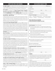 "Form FHR-1 ""Fair Hearing Request Form"" - Massachusetts"