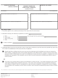 "Form DC508 ""Consent Order for Conditional Dismissal, Landlord-Tenant"" - Michigan"