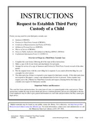 Instructions for Form CHC602, CHC603, CIV102, SOP102, CHC604, DIV813, DIV816, CON111 - Minnesota
